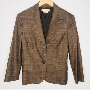 Michael Kors collection plaid blazer